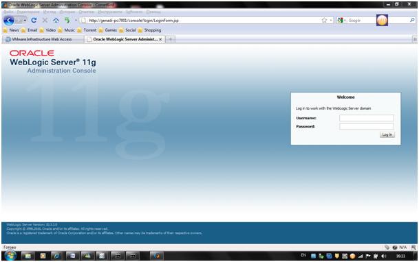installing oracle weblogic server 11g 10 3 3 on ms windows 7