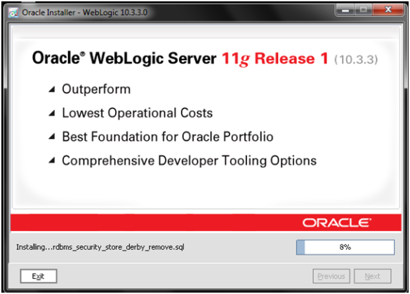 Installing Oracle Weblogic Server 11g 10 3 3 on MS Windows 7