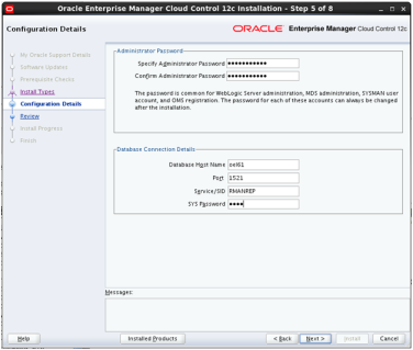 Install Oracle Enterprise Manager (OEM) Cloud Control 12c on