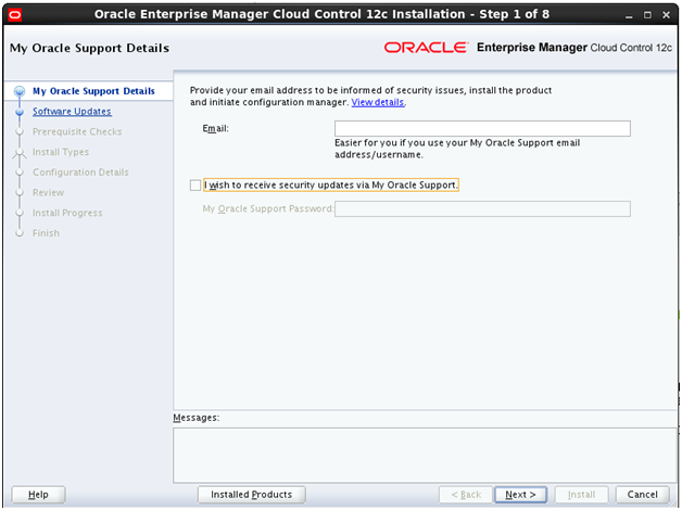 Install Oracle Enterprise Manager (OEM) Cloud Control 12c on OEL 6.1 (6/6)