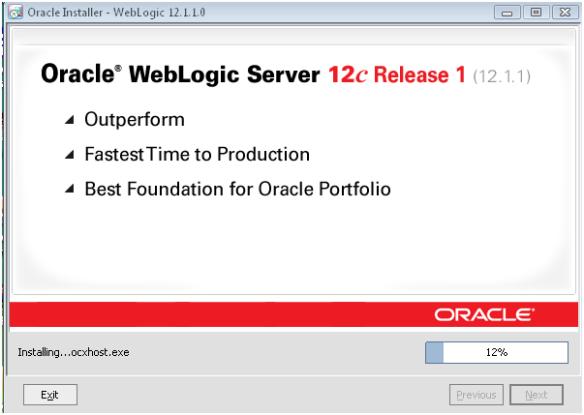 Installing Oracle Weblogic Server (OWLS) 12c 12 1 1 on Microsoft